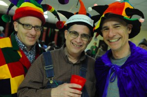 Male friends at Purim