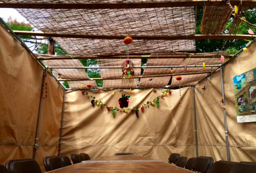 slide28 – Finished Tenley Town Sukkah, 2015