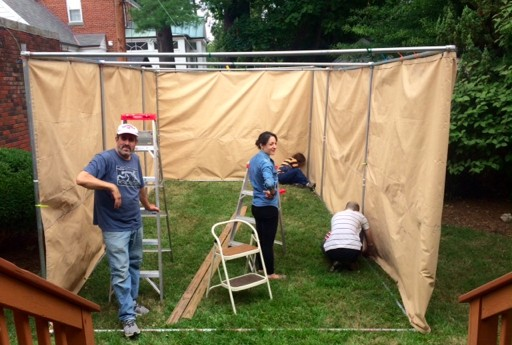 slide26 – Building the Tenley Town Sukkah, 2015
