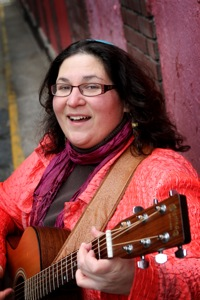 Rabbi Minna Bromberg with Guitar