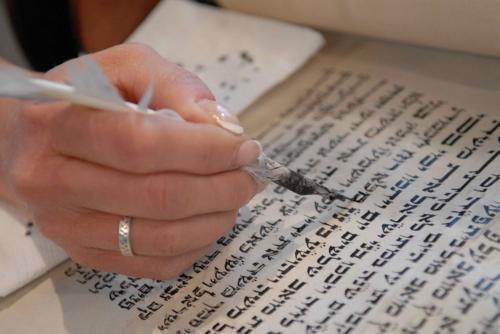 slide13 – Hand, Quill, Torah