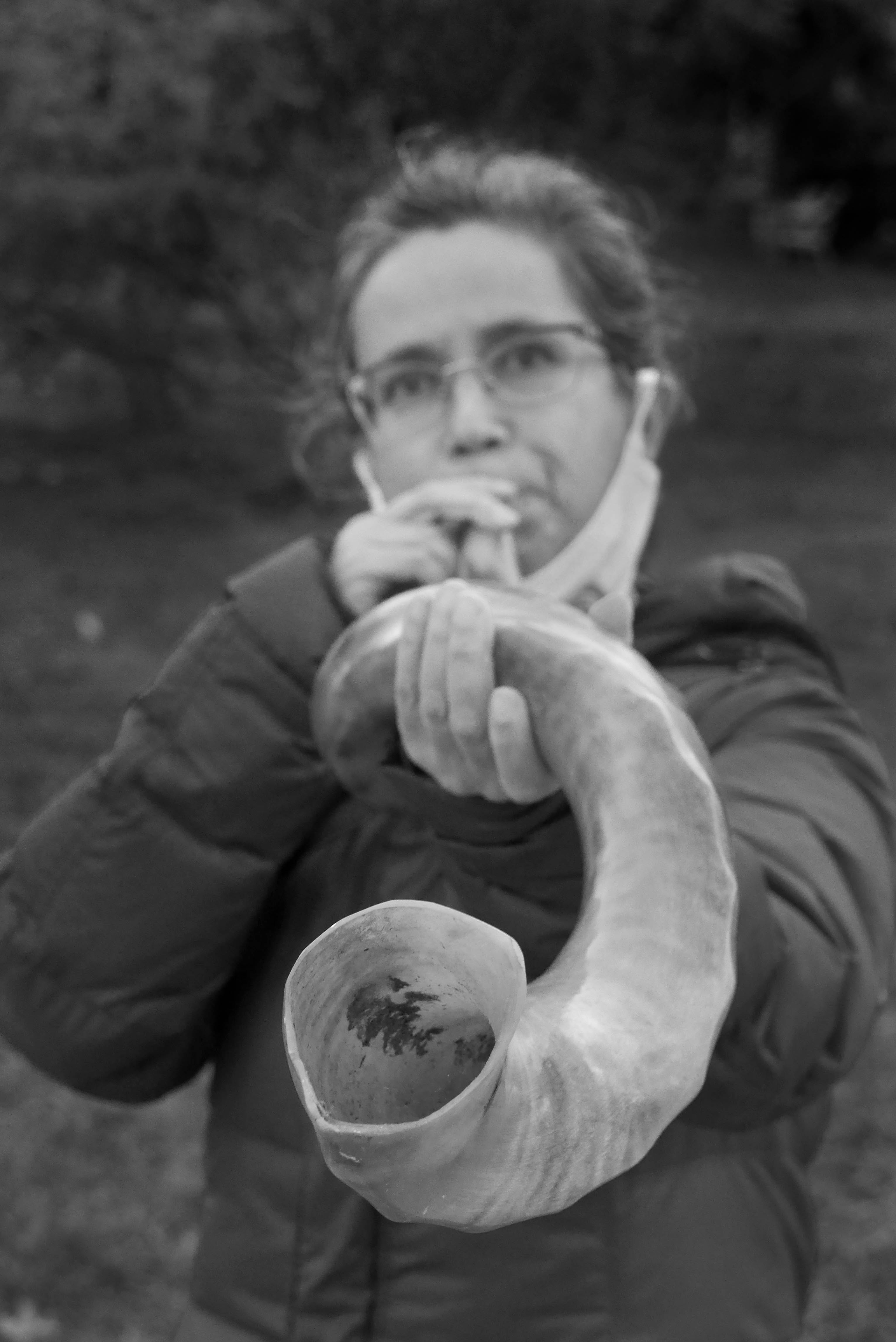Quarantine Diary 48Walk in Rock Creek Park, Washington DC, with Ruth.——Vigil for social justice with Fabrangen members in front of the Washington Ethical Society7750 16th St. NWWashington DC 20012Shofar blowing by Fran Teplitz and Judy Galat