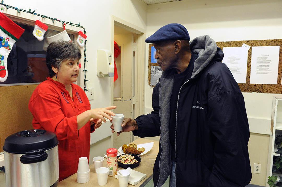 2011 EDCJCC  December 25 Day of Service: Debbie Goldman w/ patron