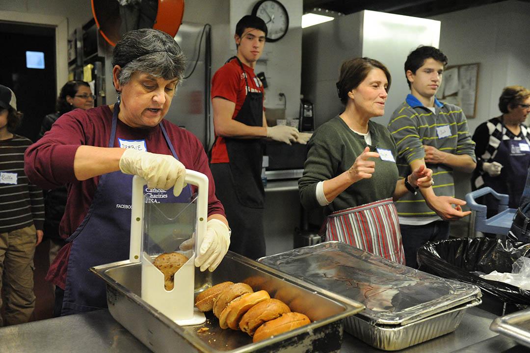 2016 EDCJCC  December 25 Day of Service: Debbie Goldman, Micah Aronson-Serotta, Gayle Schwartz, Josh Garber