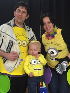 Ethan Merlin and family Purim 5777