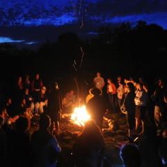 Campfire at Pearlstone Retreat 2010