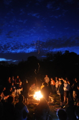Campfire at Pearlttone Retreat